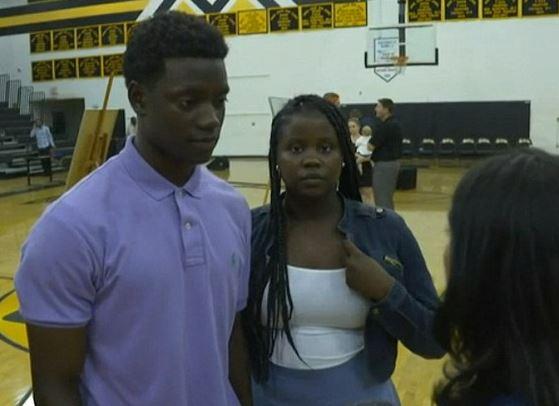 Christ et Camryn Singleton, les enfants d'une des victimes de la fusillade de l'église afro-américaine de Charleston ont dit qu'ils pardonnaient à son meurtrier
