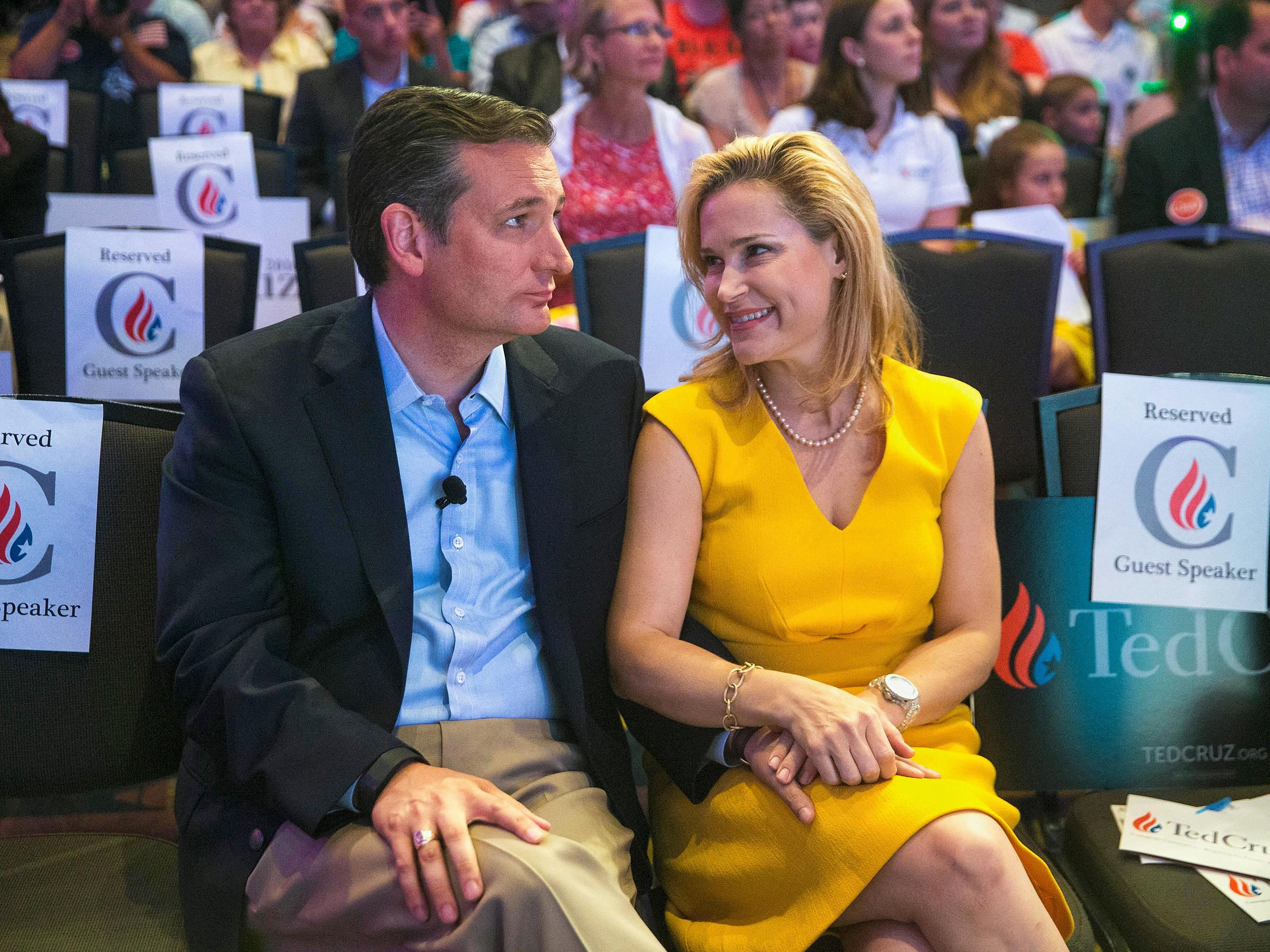 Ted Cruz et son épouse Heidi Nelson en campagne