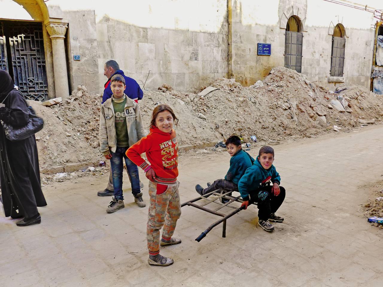 Enfants des chrétiens de Syrie