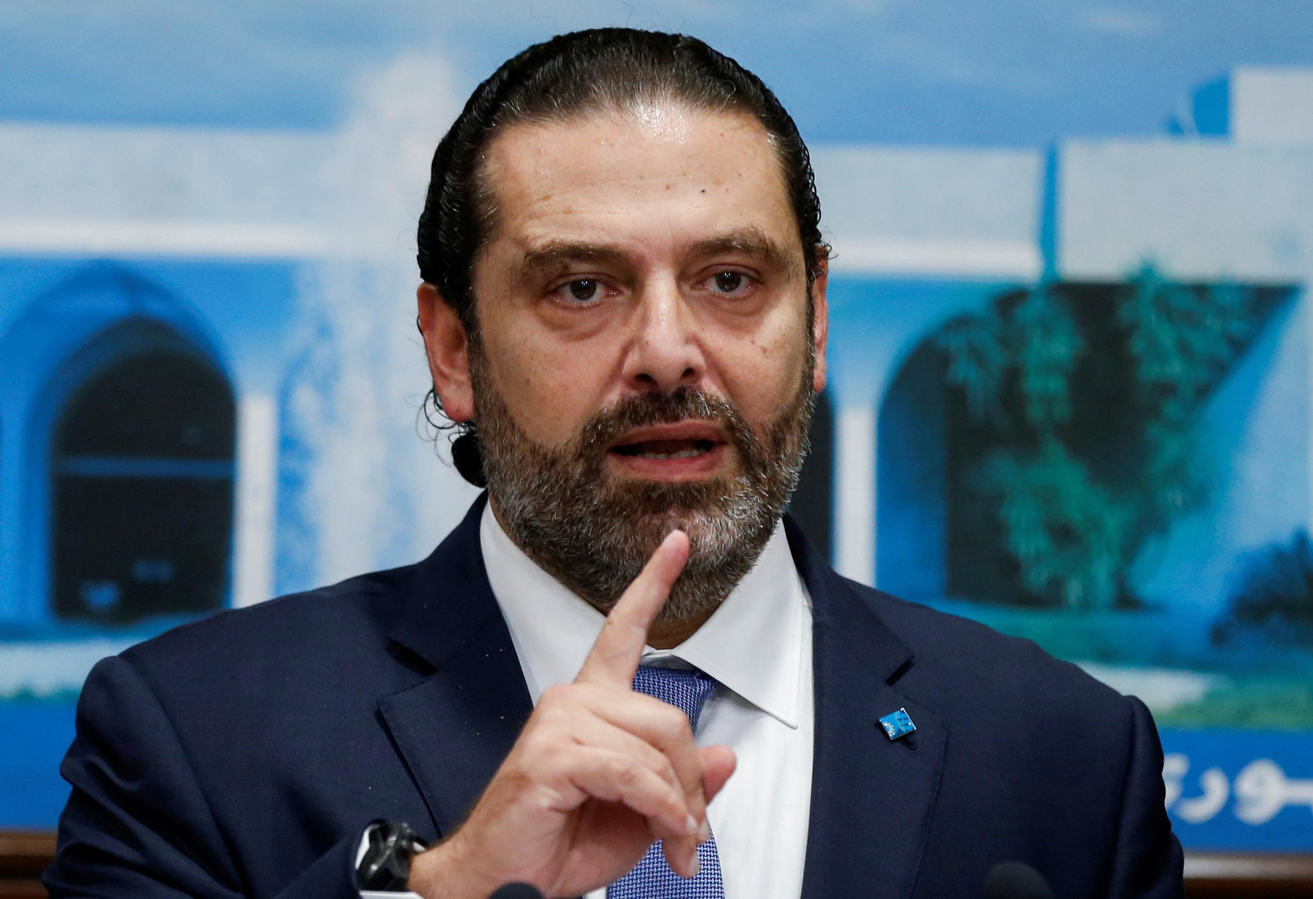Saad Hariri (en photo) est disposé à rester Premier ministre à condition que le futur gouvernement comprenne des technocrates capables de mettre rapidement en oeuvre les réformes économiques jugées indispensables au relèvement du Liban, a déclaré mercredi une source proche du dossier. /Photo prise le 21 octobre 2019/REUTERS/Mohamed Azakir