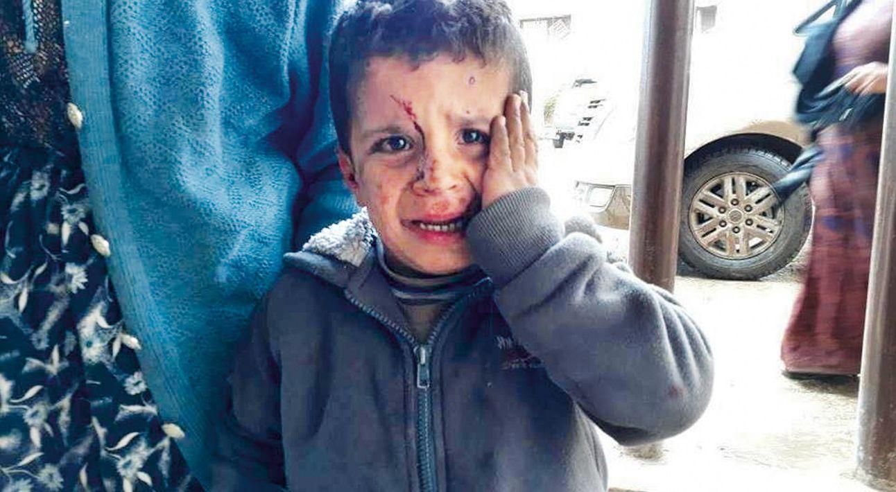 Le flux de réfugiés entre Afrine et Alep s'accroît de jour en jour.