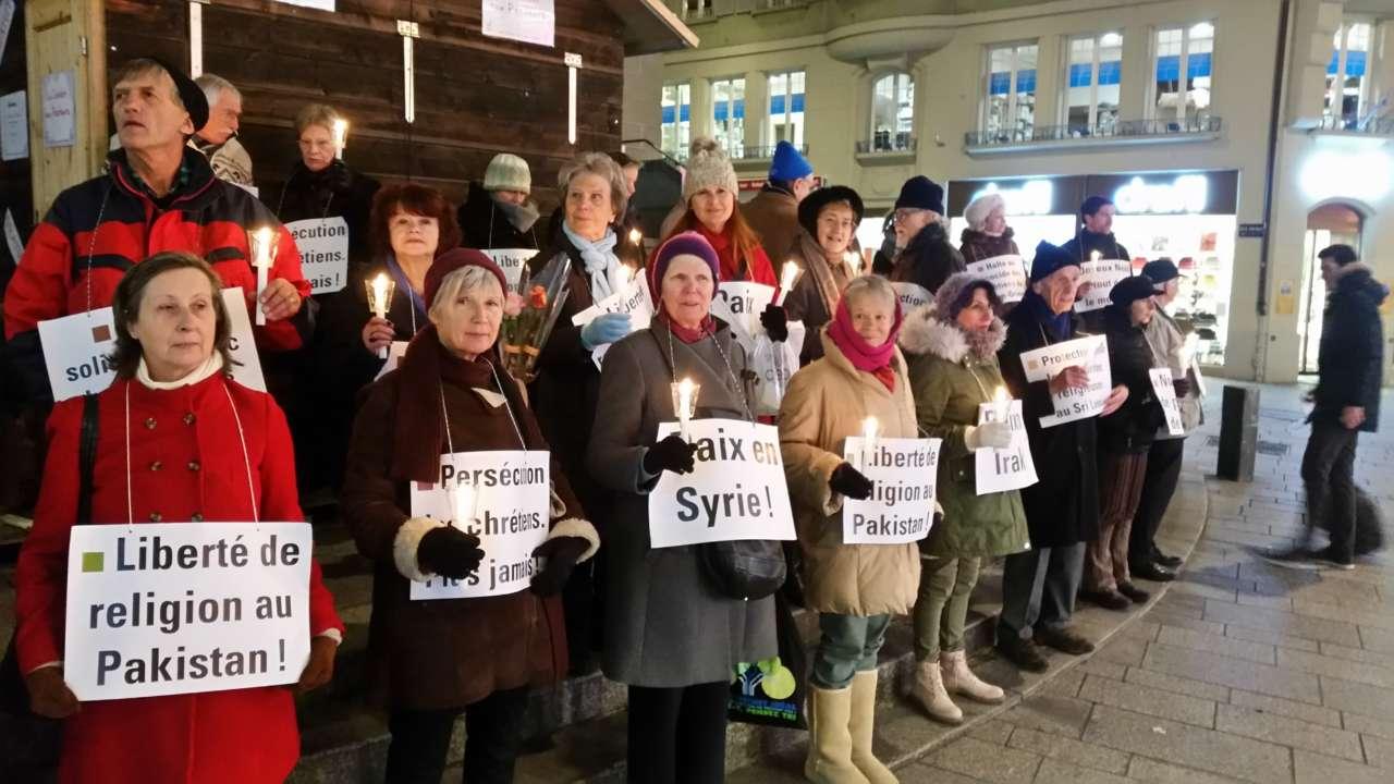 Chrétiens persécutés: Des veillée silencieuse en Suisse et en France