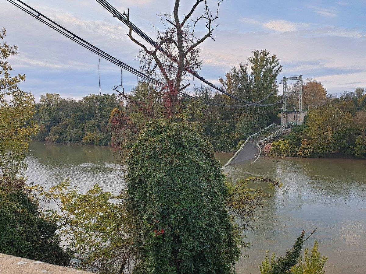 Deux morts dans l'effondrement d'un pont en Haute-Garonne