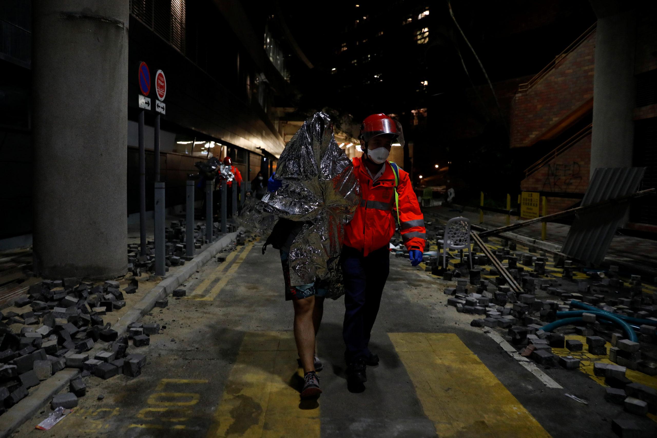 Le Congrès américain a adopté mercredi deux textes visant à soutenir les manifestants à Hong Kong et envoyer un avertissement à la Chine sur la question des droits humains, une démarche qui pourrait compliquer les relations entre Washington et Pékin engagés dans des négociations commerciales délicates. /Photo prise le 20 novembre 2019/REUTERS/Adnan Abidi