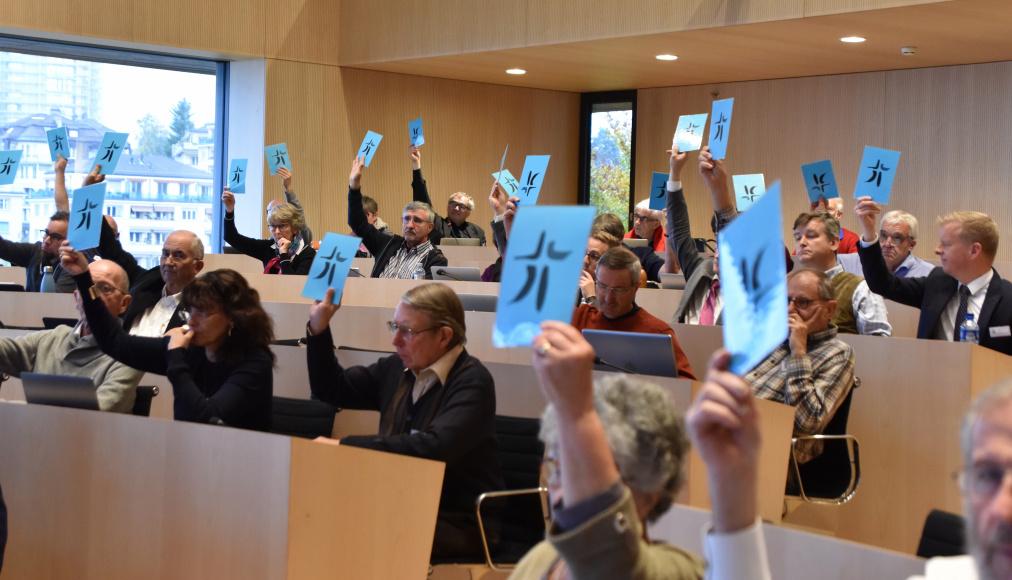 Les délégués au synode se sont réunis les 8 et 9 novembre à Lausanne. © Gérard Jaton / EERV.