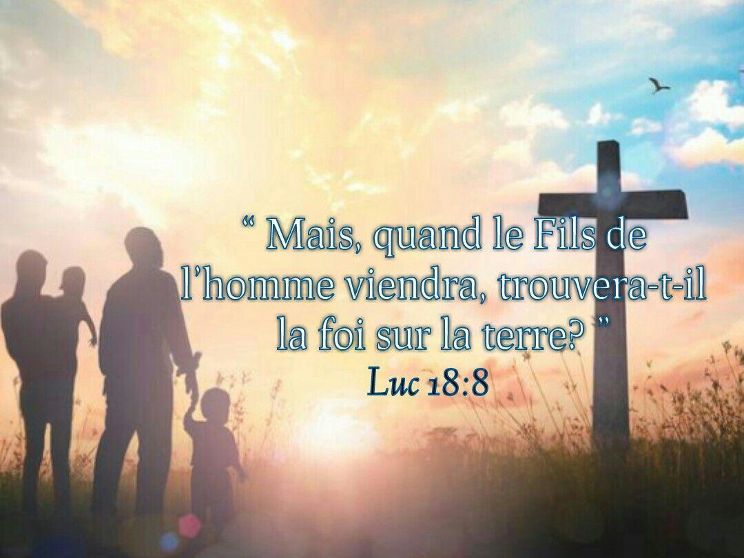 """""""Quand le Fils de l'homme viendra, trouvera-t-il la foi sur la terre?"""" (Luc 18:8)"""