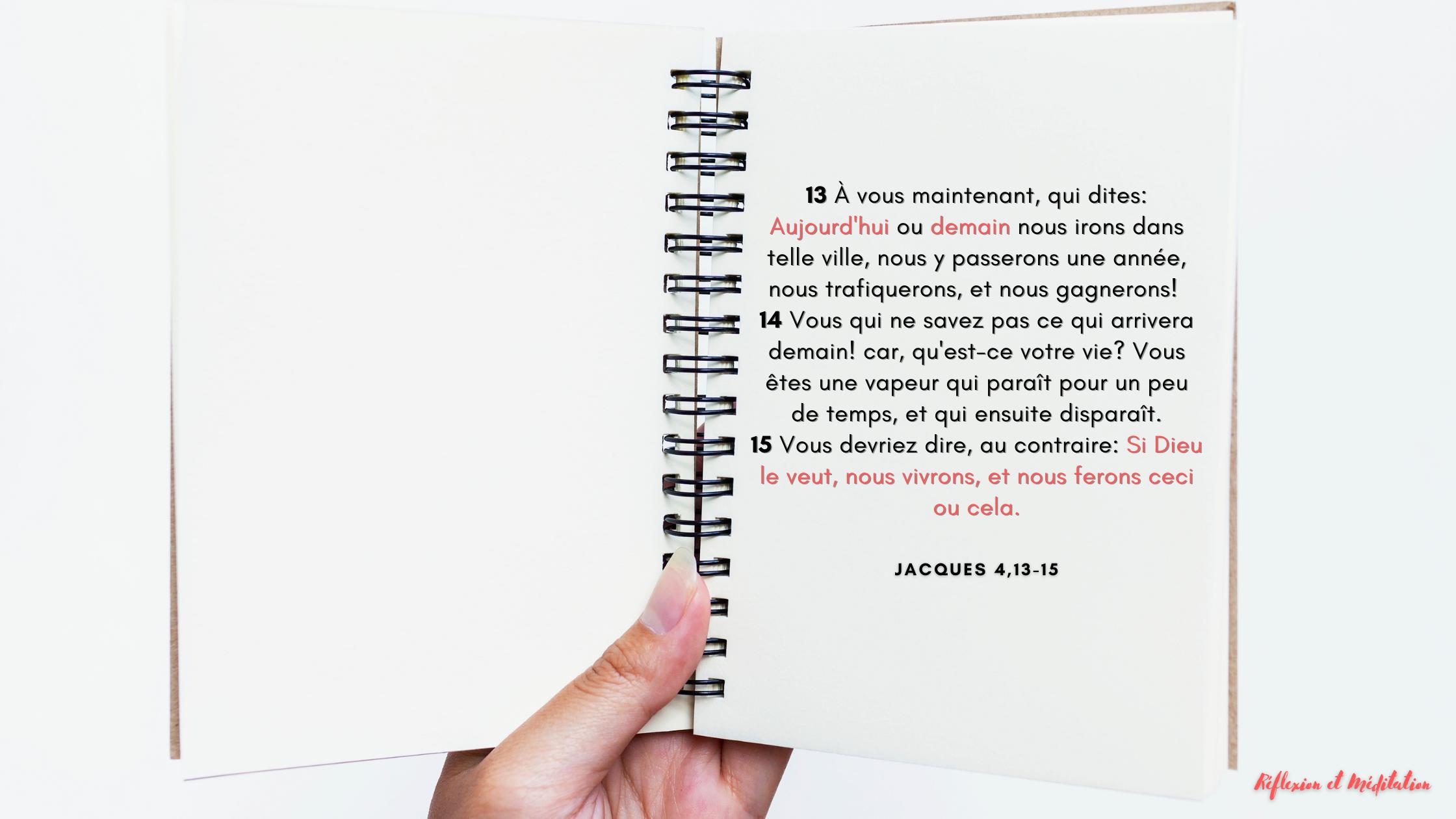 Jacques 4,13-15