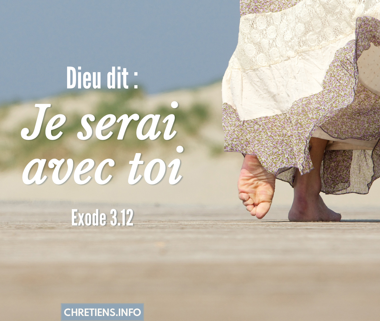 Dieu dit : Je serai avec toi ; et ceci sera pour toi le signe que c'est moi qui t'envoie. Exode 3:12