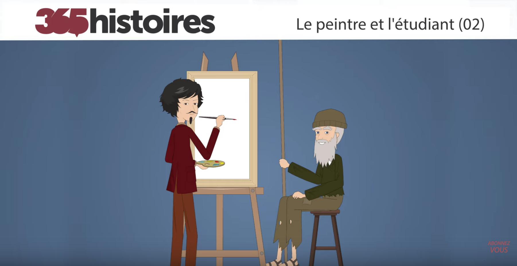 Le peintre et l'étudiant