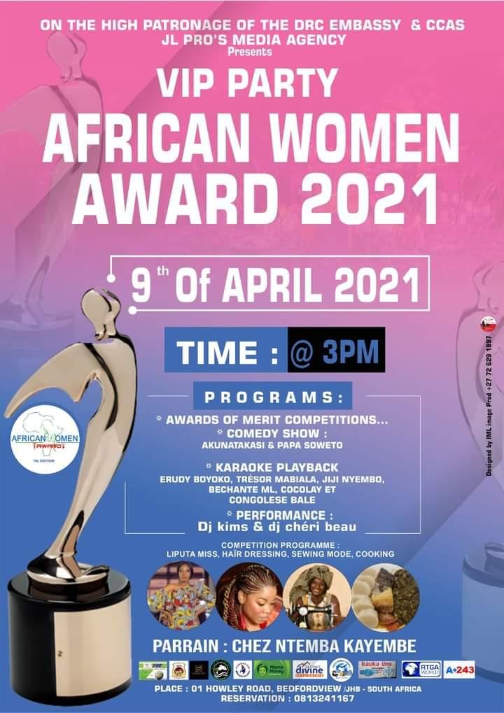 Afrique du Sud : des africaines récompensées dans plusieurs domaines au cours d'une soirée panafricaine dénommée AfricanWomanAward 2021