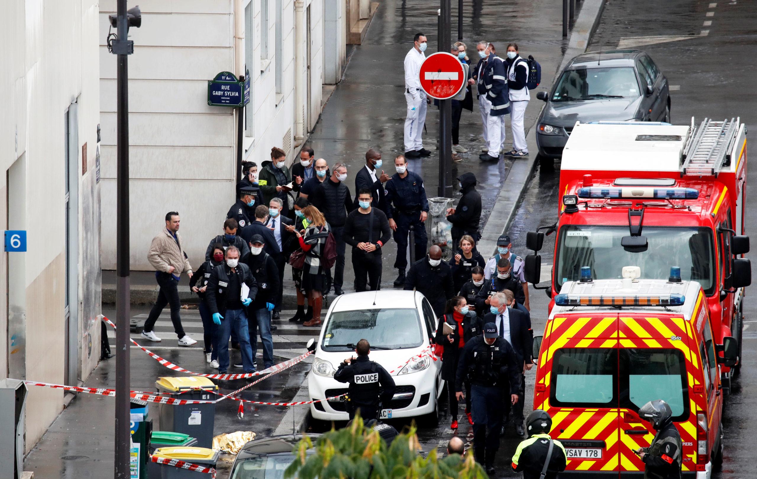 Attaque devant les anciens locaux de Charlie Hebdo, deux blessés, l'auteur arrêté