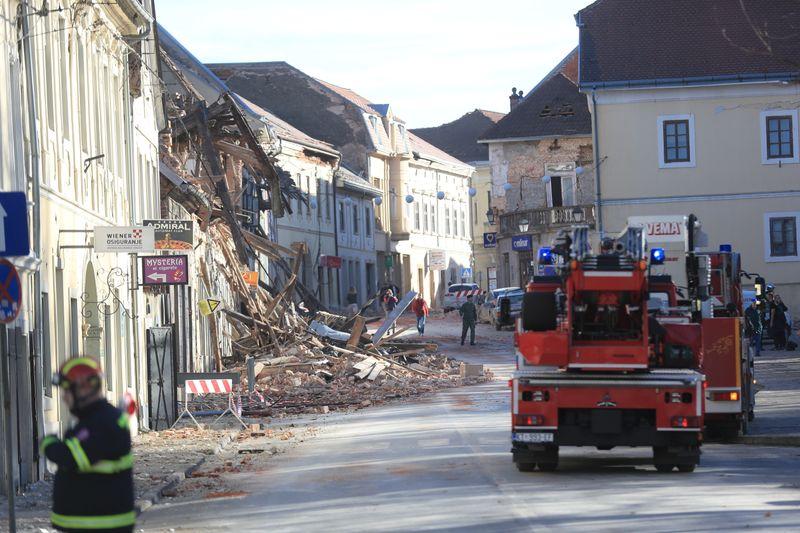 Cinq morts et de nombreux blessés après un séisme en Croatie