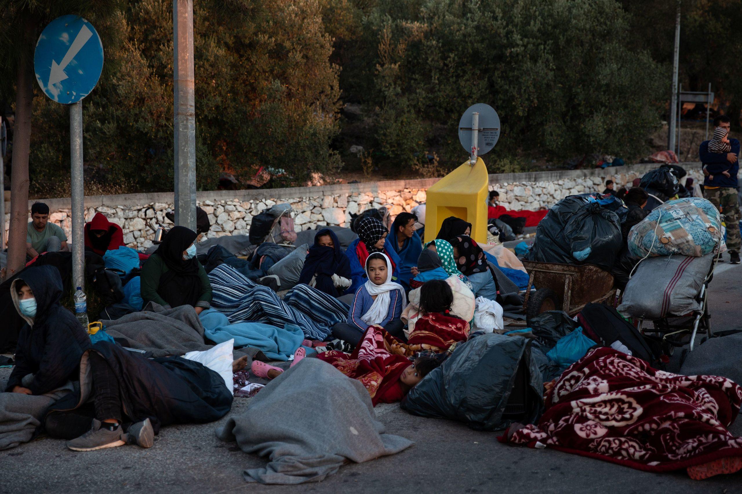 Des milliers de migrants sans abri après l'incendie à Lesbos