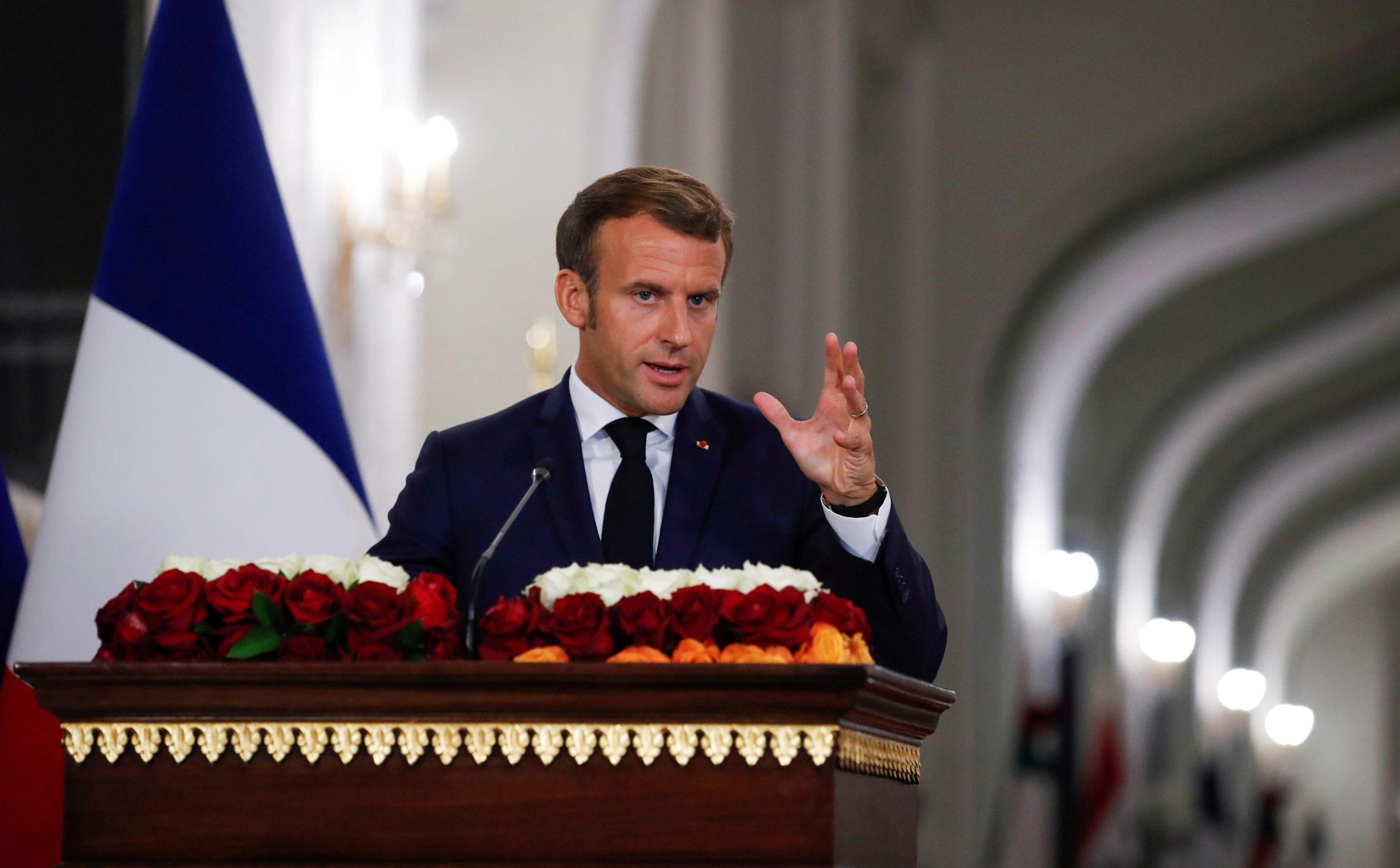Emmanuel Macron à Bagdad promet le soutien de la France à l'Irak