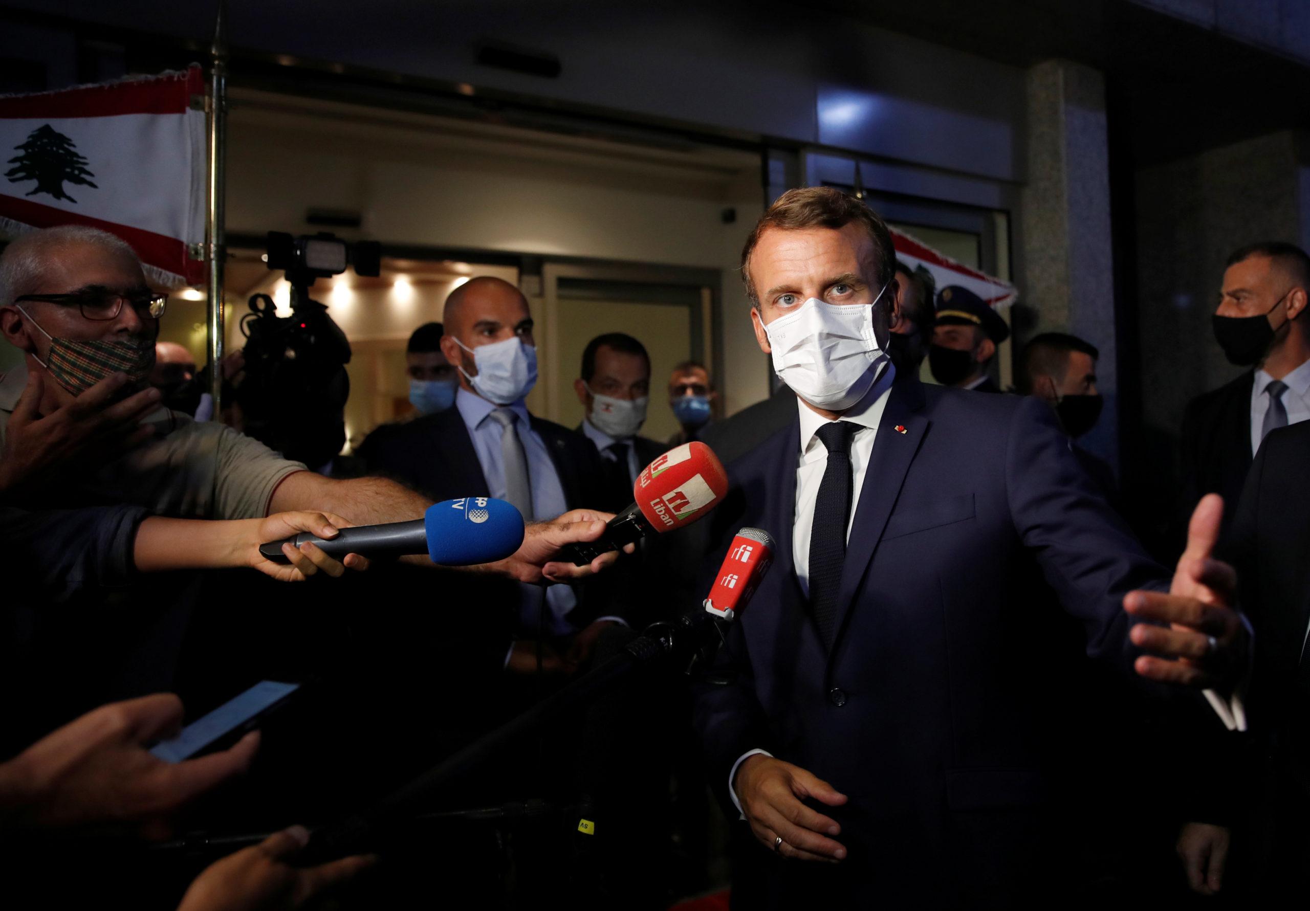 Emmanuel Macron en visite au Liban après la désignation d'un nouveau Premier ministre