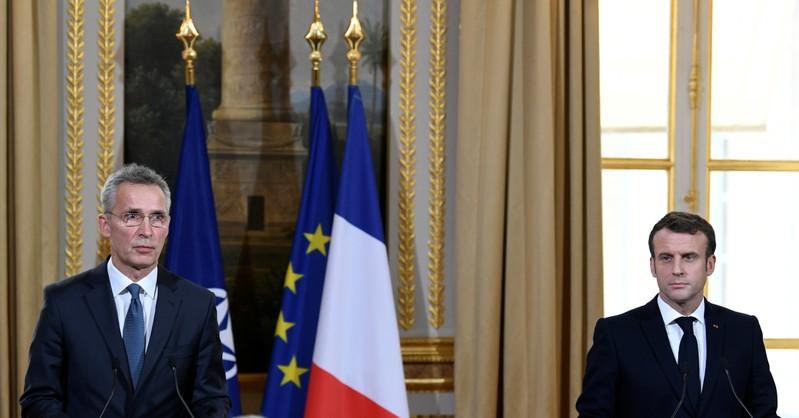 Emmanuel Macron et Jens Stoltenberg évoquent les risques liés à la 5G
