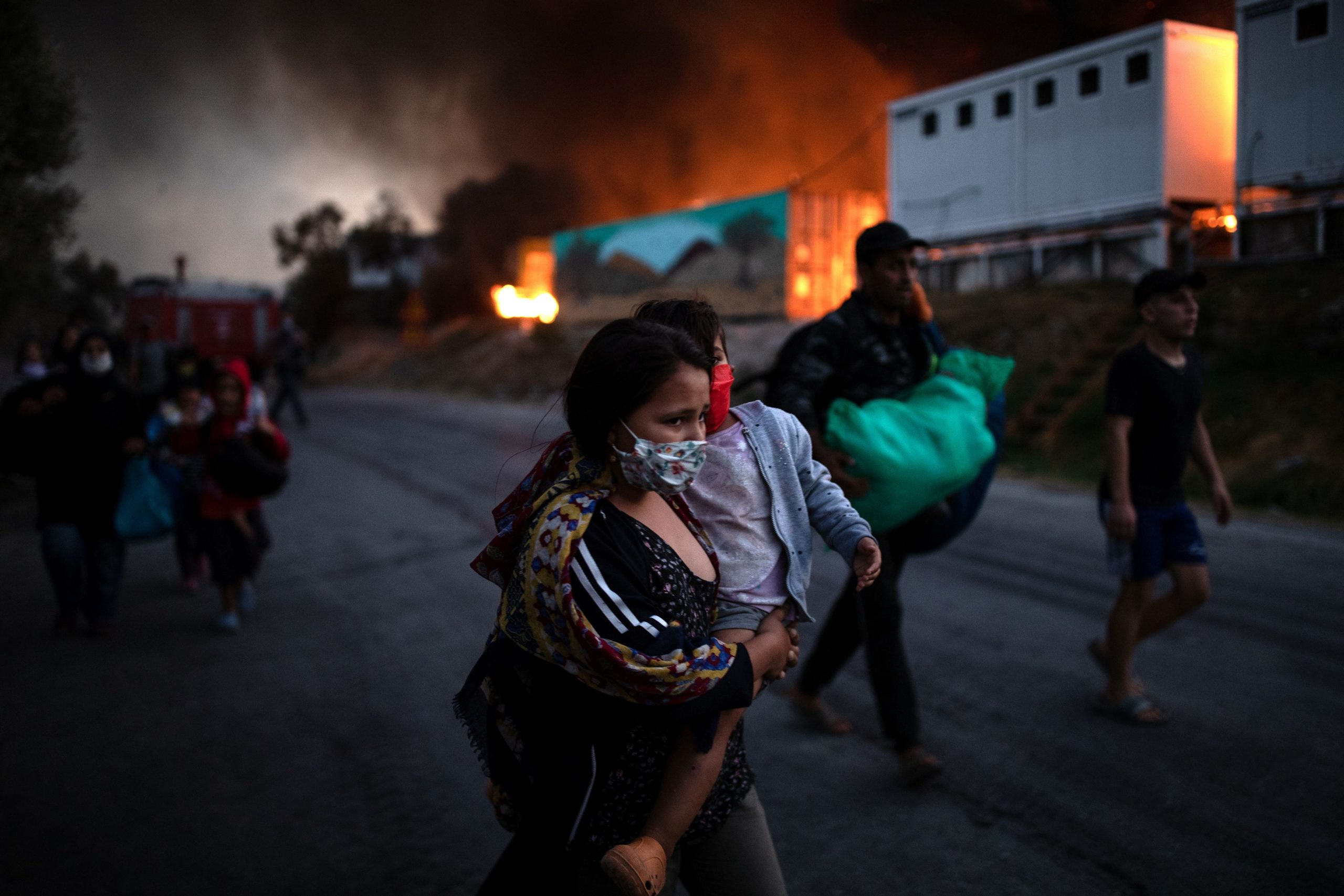 Grèce: Le camp de Moria probablement détruit après des incendies