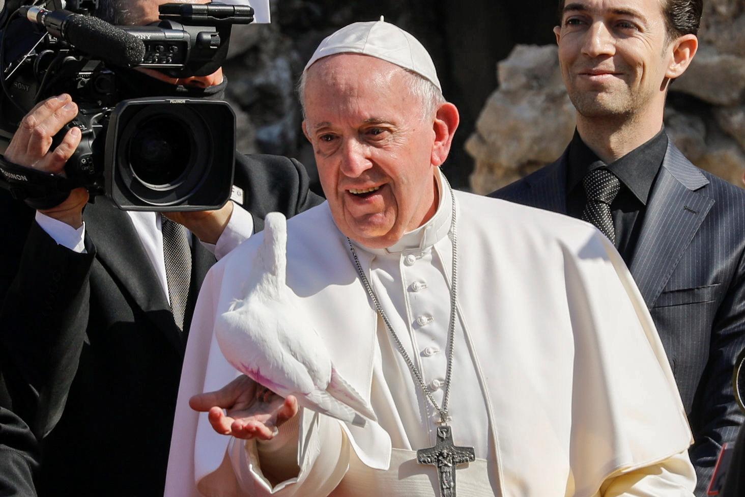 Le pape François à Mossoul, ancien bastion irakien de l'Etat islamique