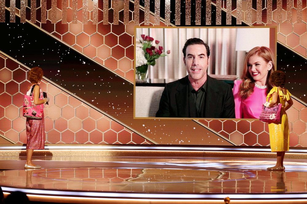 """Les films """"Nomadland"""" et """"Borat 2"""" primés aux Golden Globes"""