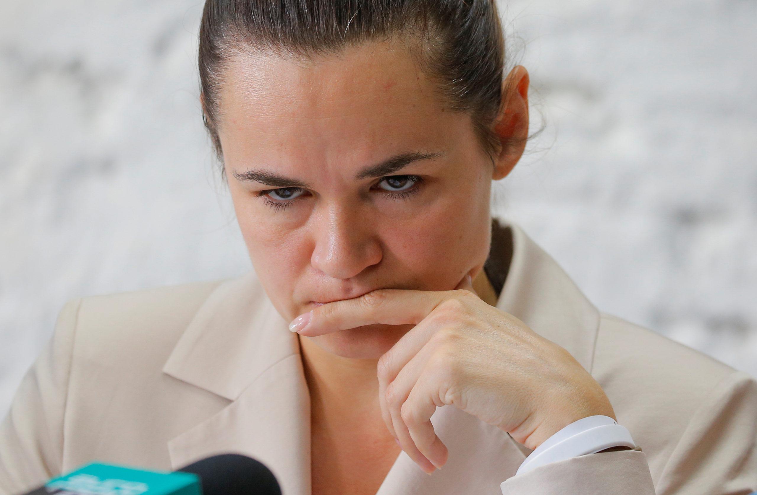 L'opposante biélorusse Tikhanouskaïa se réfugie en Lituanie