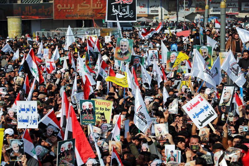 Manifestation à Bagdad pour l'anniversaire de l'assassinat de Soleimani