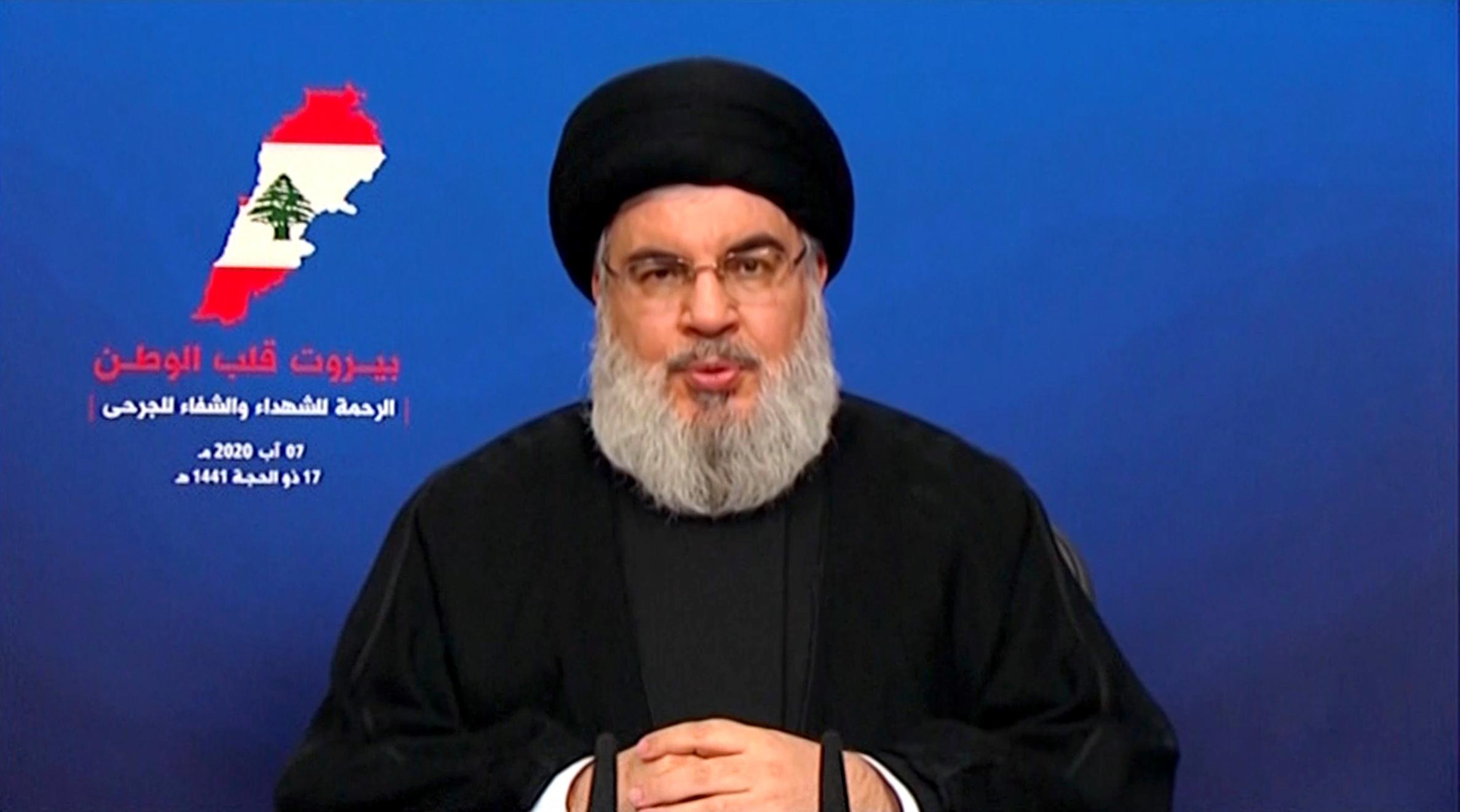 Nasrallah nie l'existence d'un dépôt d'armes du Hezbollah dans le port de Beyrouth