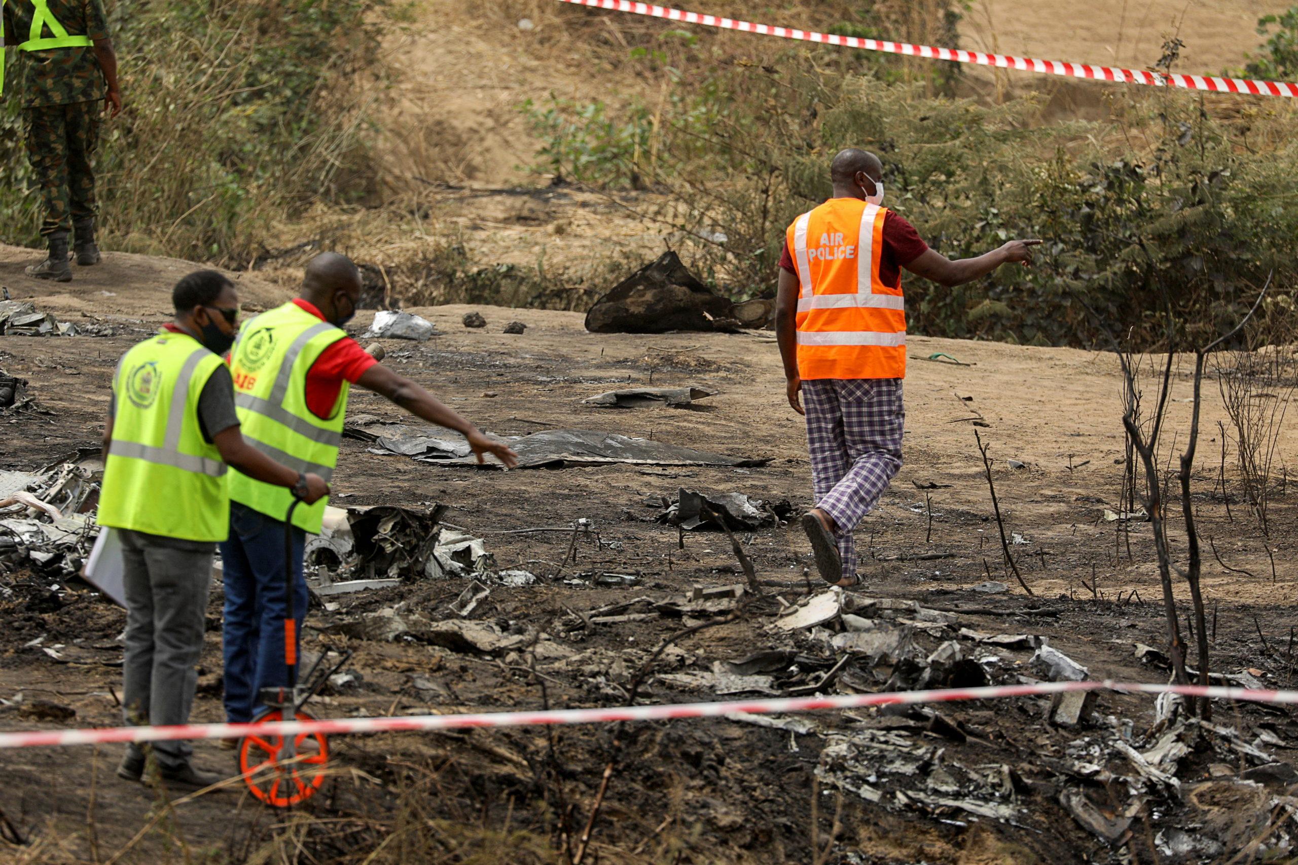 Sept morts dans le crash d'un appareil militaire au Nigeria