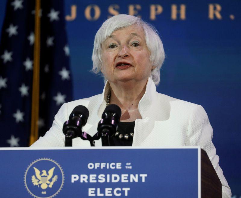 """USA: Il faut """"frapper fort"""" pour la relance, dit Yellen devant le Sénat"""